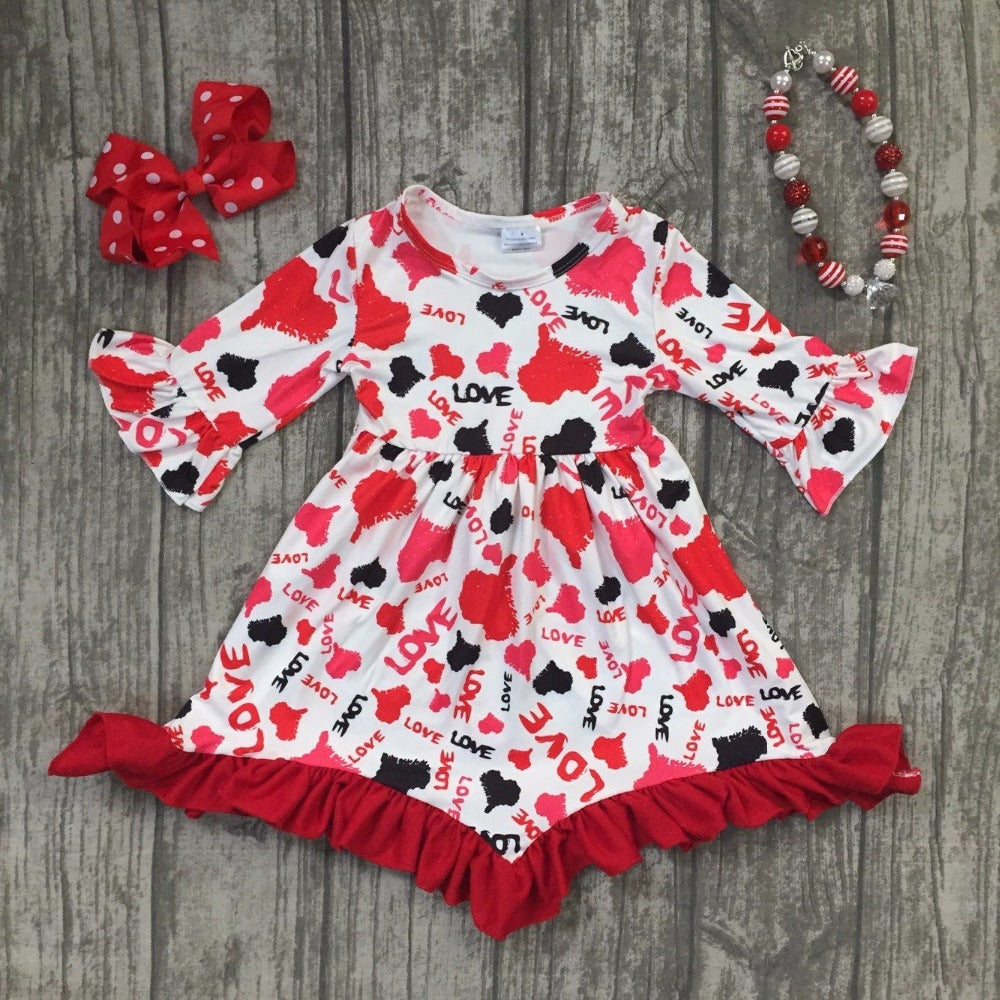 Red Heart is Love dress outfit set - Happy-Go-Cart