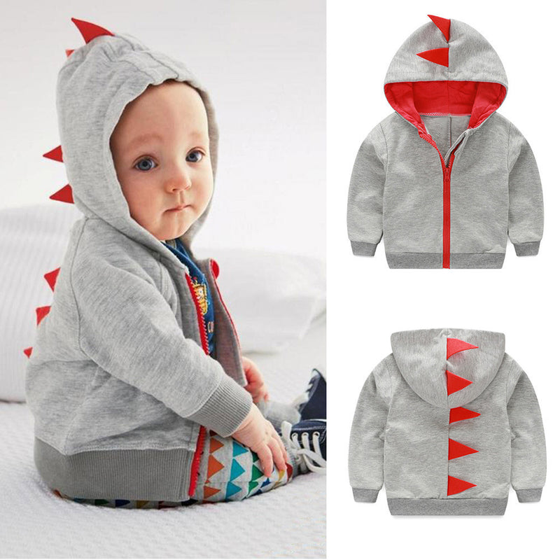 Pre order Infant Toddler Baby  Dinosaur Hooded Jacket - Happy-Go-Cart