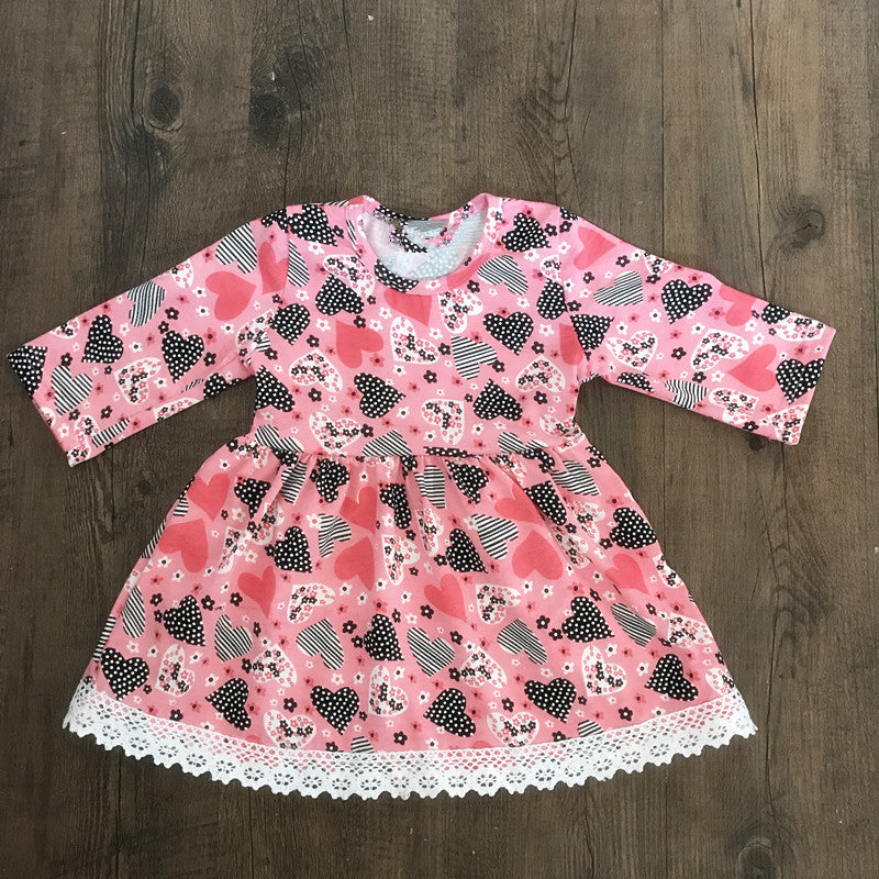 All Hearts Valentine's Pink dress - Happy-Go-Cart