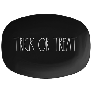 "Large Letter ""TRICK OR TREAT"" Halloween Big Plate Platter"