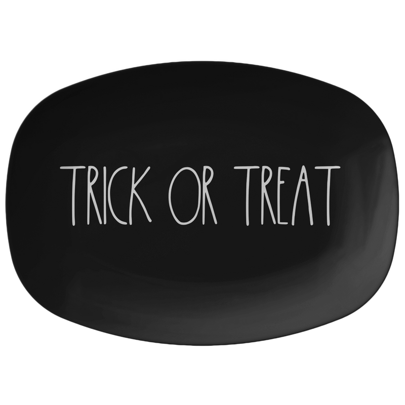 "Rae Dunn-INSPIRED ""TRICK OR TREAT"" Halloween Big Plate Platter"