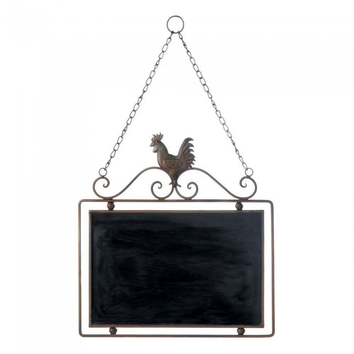 Rooster Chalkboard Wall Decor - Happy-Go-Cart