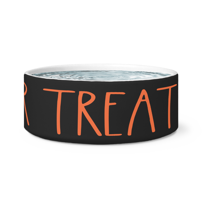"Rae Dunn-INSPIRED ""TRICK OR TREAT"" Halloween DOG BOWL"