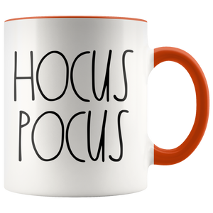"""HOCUS POCUS"" Farmhouse Large Letter Halloween Mug"