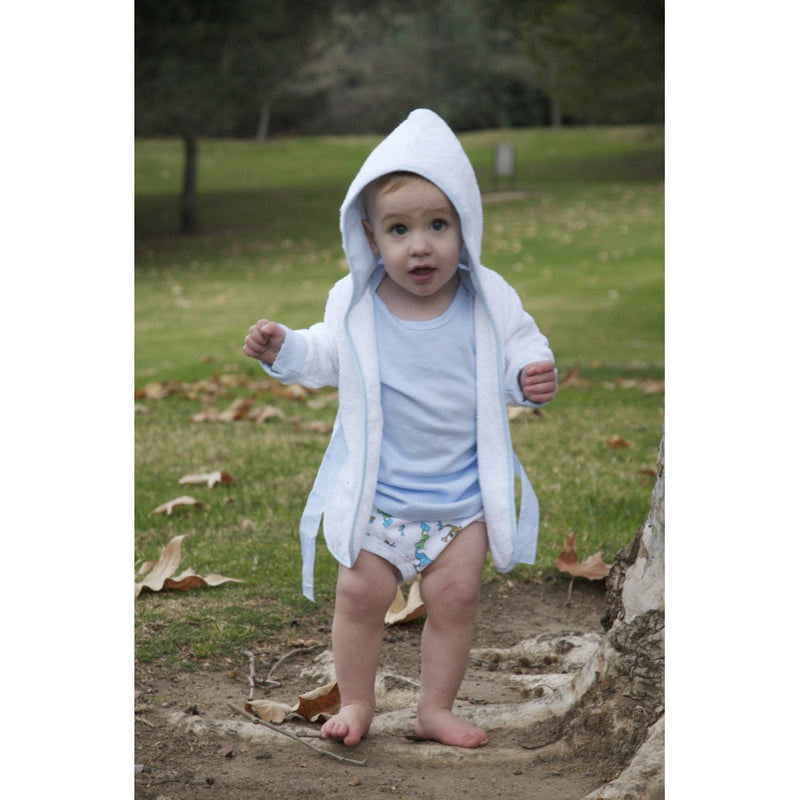 White Terry Hooded Bath Robe - 960W - Happy-Go-Cart