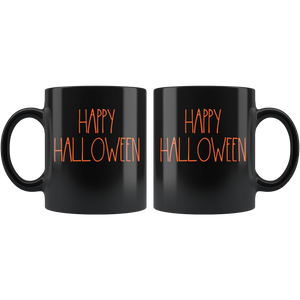 """HAPPY HALLOWEEN"" Farmhouse Large Letter Halloween Mug"