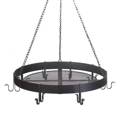 Round Black Hanging Pot Holder - Happy-Go-Cart