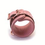 Pink Leather Collar To Wrist And Ankle Restraints Bondage Set + Free Gifts