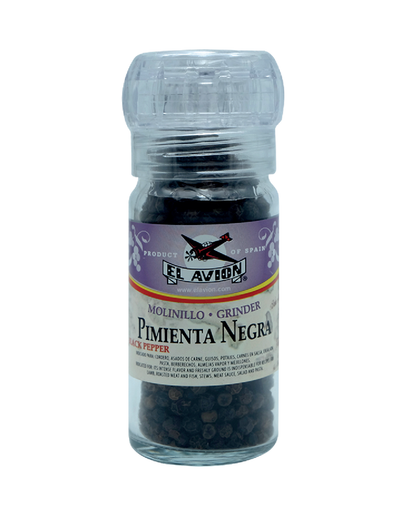El Avion Pimienta Negra Black Pepper Grinder 50G