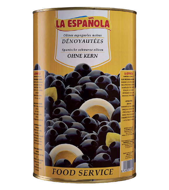La Espanola Black Pitted Olives In Brine 4.3Kg