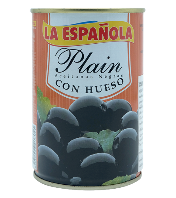 La Espanola Whole Black Olives In Brine 300G