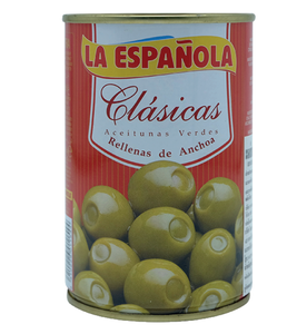 La Espanola Anchovy Stuffed Green Olives In Brine 300G