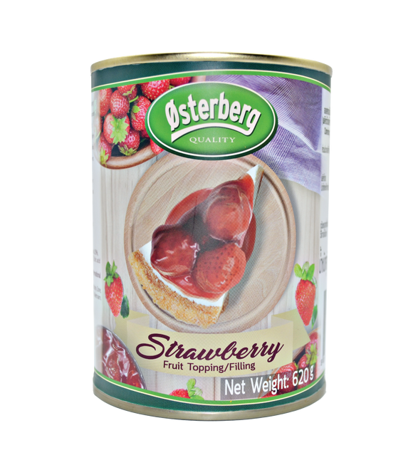 Osterberg Canned Strawberry Fruit Topping & Filling 35% 620G