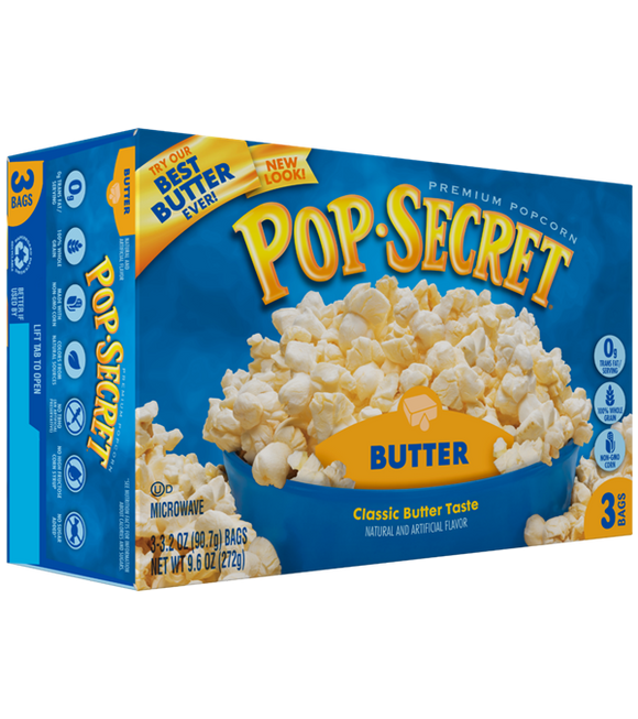 Pop-Secret Microwave Popcorn - Butter 272G (90G X 3)