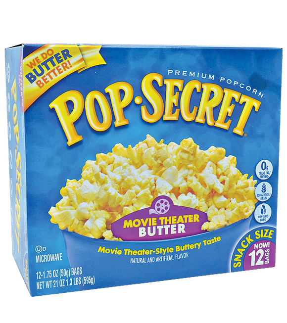 Pop-Secret Microwave Popcorn - Movie Theater 595G (50G X 12)