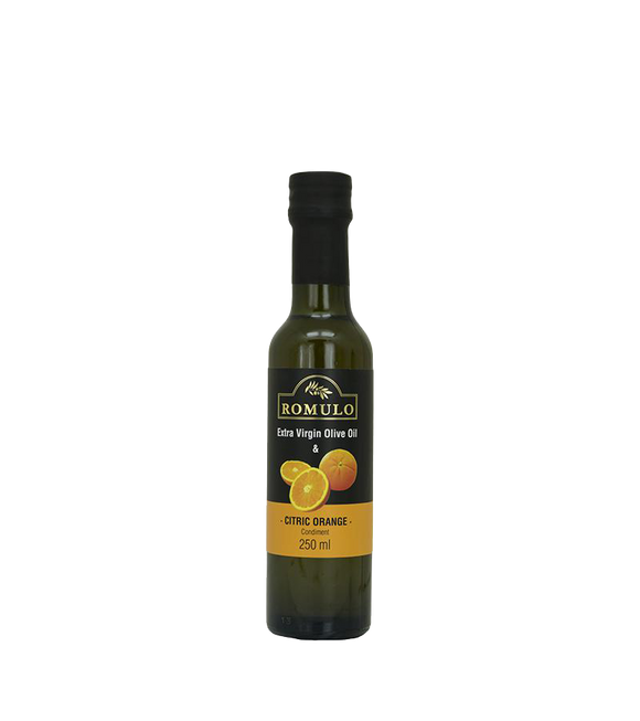 Romulo Condiment Extra Virgin Olive Oil - Citric Orange 250Ml
