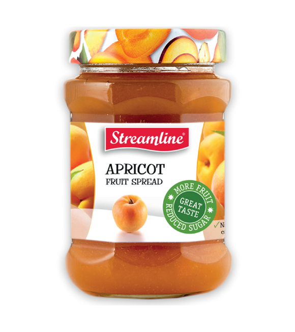 Streamline Apricot Reduced Sugar Jam 340G