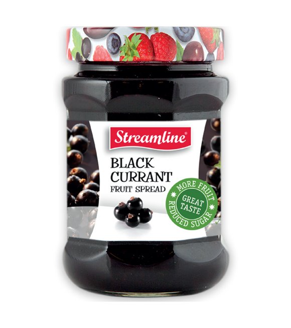 Streamline Black Currant Reduced Sugar Jam 340G