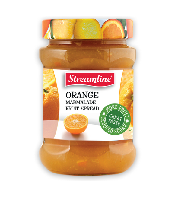 Streamline Diced Cut Orange Marmalade Reduced Sugar Jam 340G