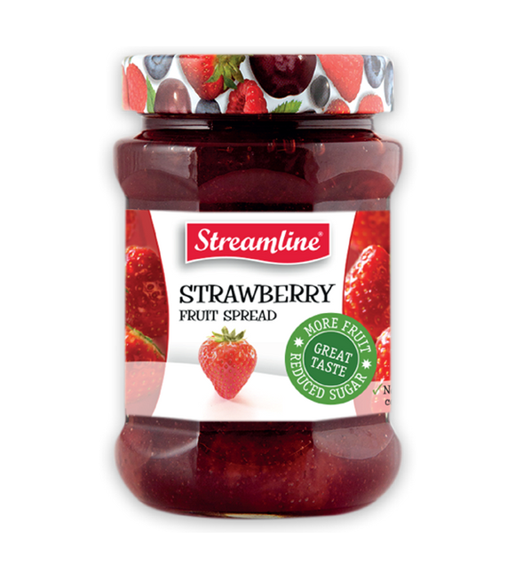 Streamline Strawberry Reduced Sugar Jam 340G