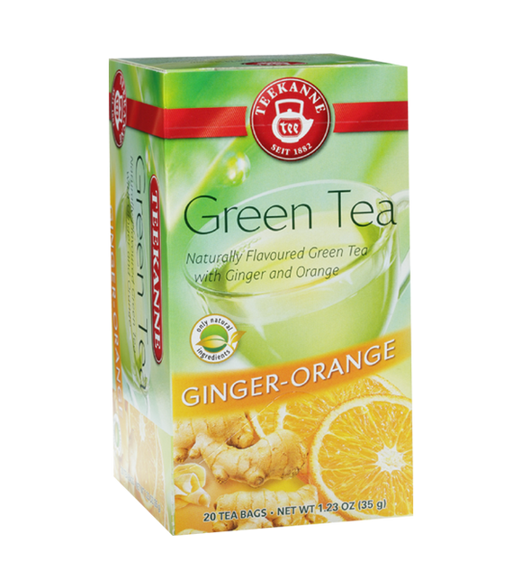 Teekanne Ginger & Orange Flavoured Green Tea 35G