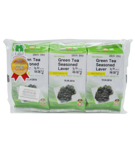 Sea Friend Green Tea Seasoned Laver (Pack) 15G (5G X 3)