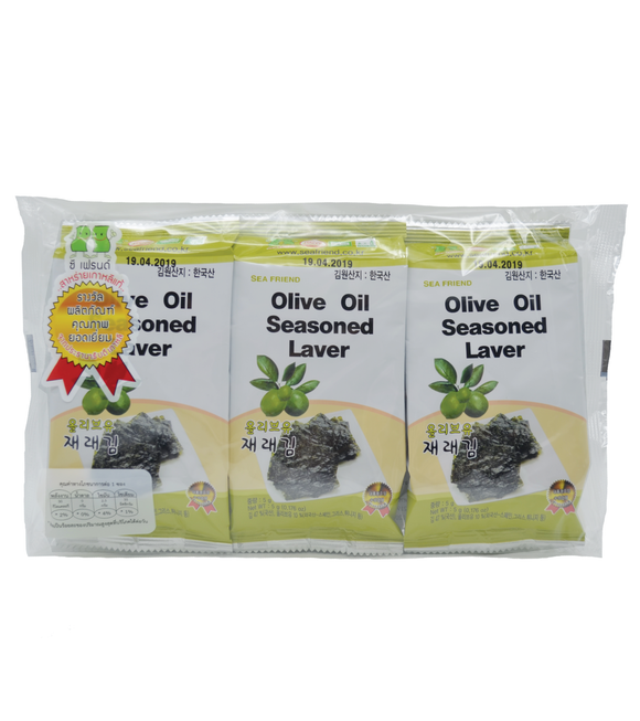 Sea Friend Olive Oil Seasoned Laver (Pack) 15G (5G X 3)