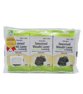 Sea Friend Wasabi Seasoned Laver (Pack) 15G (5G X 3)
