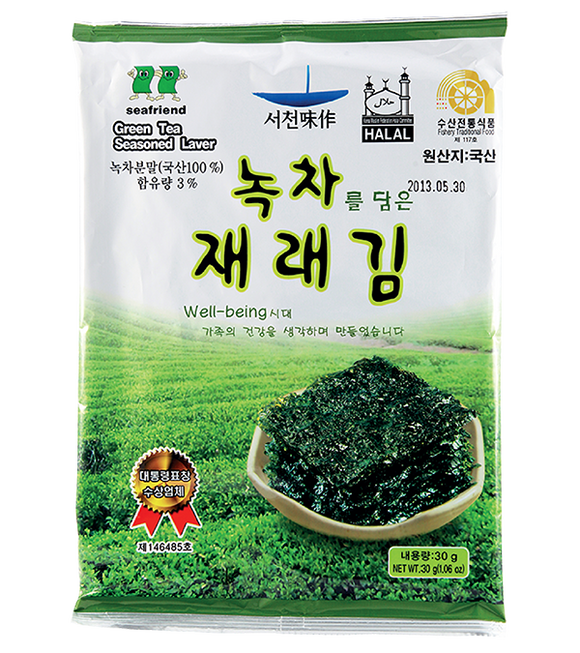 Sea Friend Green Tea Seasoned Laver (Whole Type) 30G