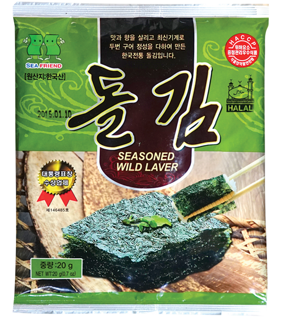 Sea Friend Seasoned Wild Laver (Whole Type) 20G