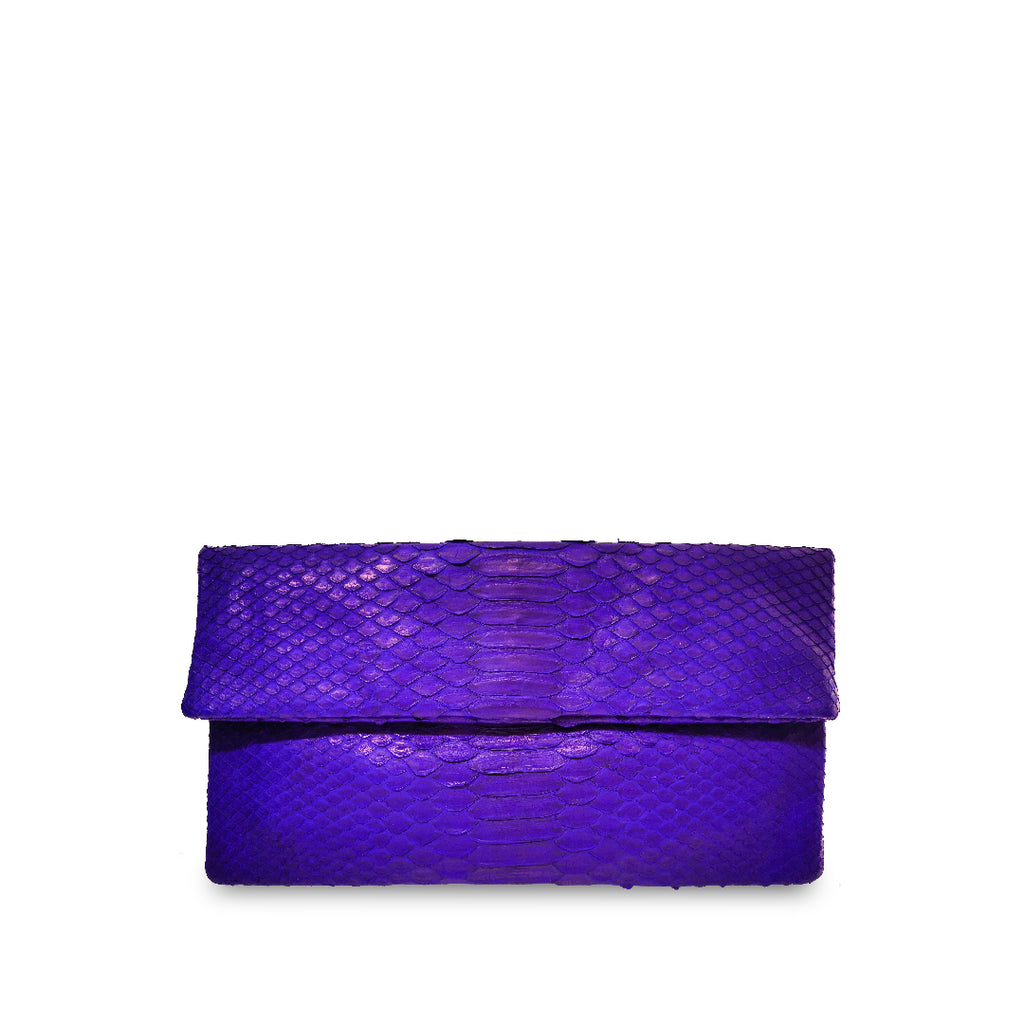 handcrafted_exotic_leather_python_skin_clutch_bag_Leon_Purple