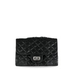 handcrafted_exotic_leather_python_skin_chained_bag_Robin_Small_Black