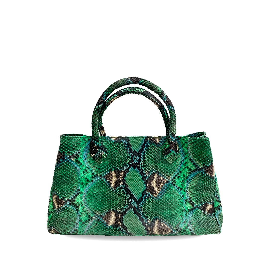 handcrafted_exotic_leather_python_skin_top handle_bag_Barnabé_Natural