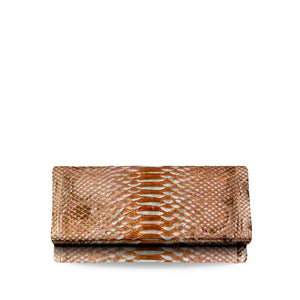 handcrafted_exotic_leather_python_skin_wallet_purse_Roméo_New_Rose_Gold