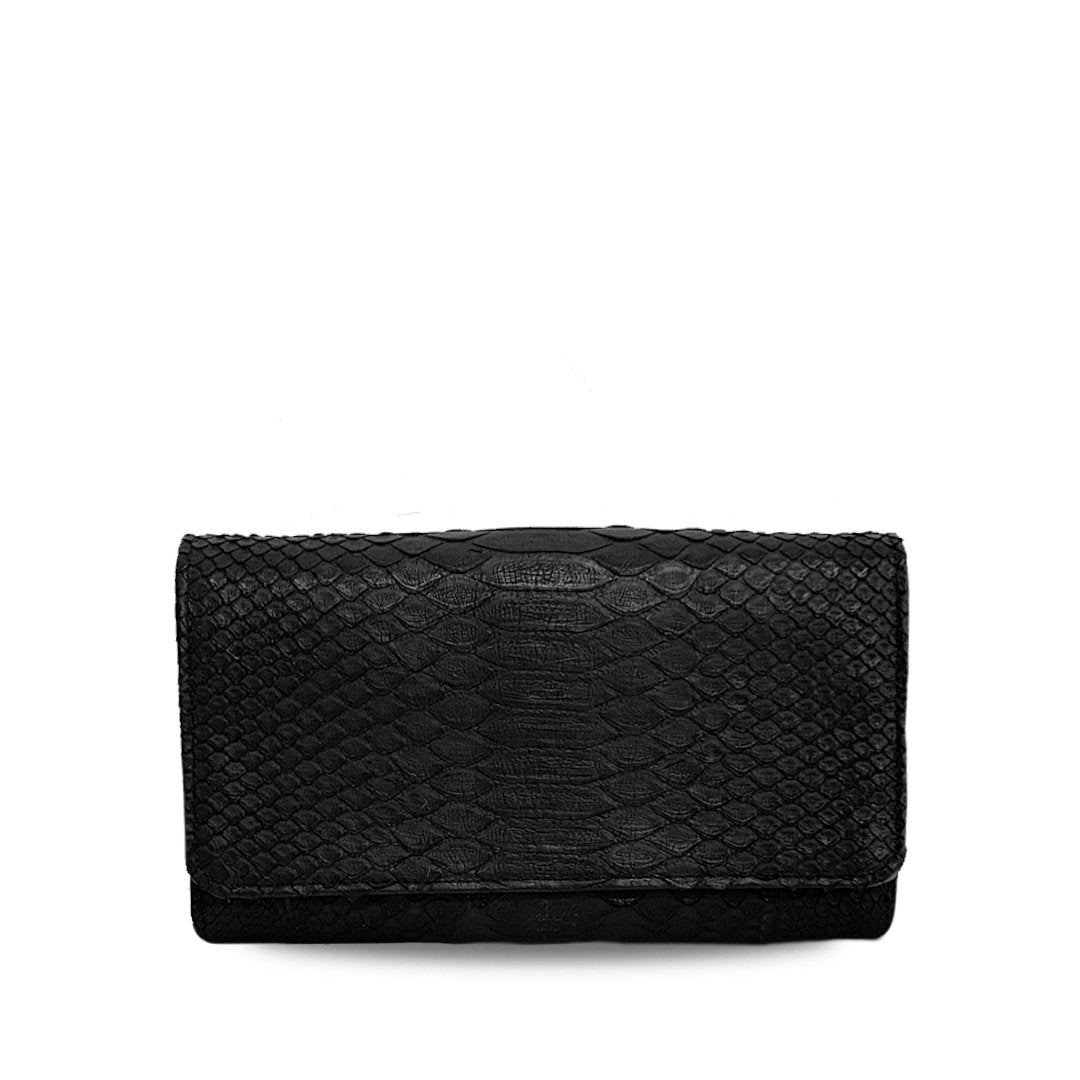 handcrafted_exotic_leather_python_skin_wallet_purse_Romeo_Big_Black