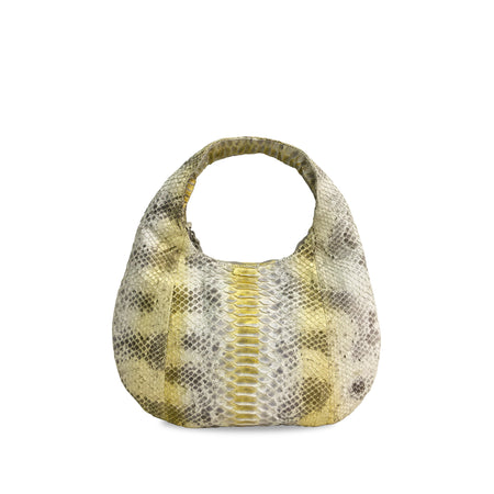 handcrafted_exotic_leather_python_skin_top handle_bag_Croissant_Medium_White_Natural