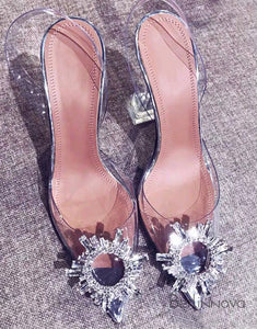 Crystal Shoes Rhinestone High Heels