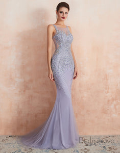 Mermaid V-Neck Long Evening Dress Prom Dress