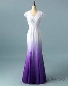 Ombre Chiffon Mermaid Bridal Dress
