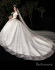 A-Line Off-the-Shoulder Sleeveless Wedding Dress with Sequins