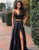 Two Pieces Prom Dress Evening Dress with Bowkont