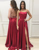 Simple Long Prom Dress With Slit Formal Dress