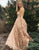A-Line Sweetheart Sweep Train Pink Lace Sleeveless Prom Dress with Appliques