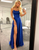 A-Line Royal Blue Prom Dress Side Split Evening Dress
