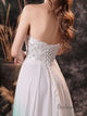 Simple Sweetheart Open Back Lace Wedding Dress