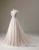Lace Applique Cap Sleeve Bridal Dress