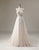 Lace Applique Cap Sleeve Long Wedding Dress