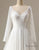 Illusion Sleeve Plunging Gown Wedding Dress