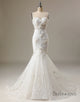 Mermaid Sweetheart Flower Wedding Dress