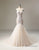 Applique Cap Sleeve Mermaid Wedding Dress